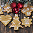 Stock Photo: Christmas Ginger and Honey cookies