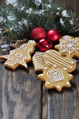 Christmas Ginger and Honey cookies — Stock Photo