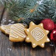 Christmas Ginger and Honey cookies — Stock Photo #20154875