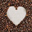 Heart coffee frame — Stock Photo