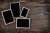 Blank vintage photo frames — Stock Photo