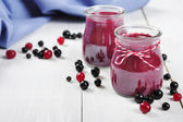 Cranberry and black currant smoothie — Stock Photo