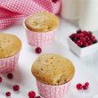 Muffins with fresh cranberries - Foto de Stock