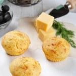 Homemade cheese muffins — Stock Photo #21915045