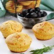 Homemade cheese muffins — Stock Photo