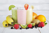Fruit smoothies — Stock fotografie
