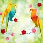 Origami parrots — Stock Photo #22501413