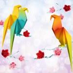 Origami parrots — Stock Photo #22501445