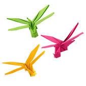 Origami dragonfly — Stock Photo