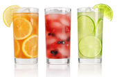 Summer drinks with ice — Stock Photo