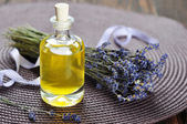 Essential lavender oil — Stock Photo