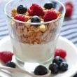 Natural yogurt with berries — Stock Photo