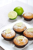 Muffins med lime — Stockfoto