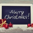 Slate board with Christmas decoration — Stock Photo