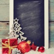 Slate board with Christmas decoration — Stock Photo #33243537