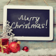 Stock Photo: Slate board with Christmas decoration