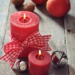 Two red candles — Stock Photo