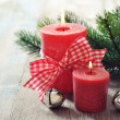 Stock Photo: Two red candles