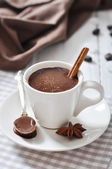 Hot Chocolate in cup — Stock Photo