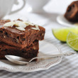 Stock Photo: Brownie cake