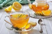 Ginger tea with lemon — Stock Photo