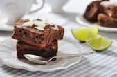 Brownie cake — Stock Photo