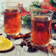 Mulled wine with spices — Stock Photo #34279515