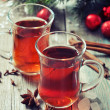 Mulled wine with spices — Stock Photo