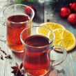 Mulled wine with spices — Stock Photo #34279527