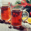 Stock Photo: Mulled wine with spices