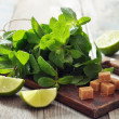 Ingredients  for coctail mojito — Zdjęcie stockowe