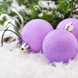 Pink christmas balls — Stock Photo #34630981