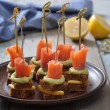 Photo: Canape with salmon