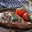 Grilled steak  on plate  — Stock Photo