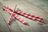 Striped straws — Stock Photo