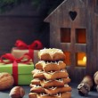Fir tree from ginger biscuits — Stock fotografie
