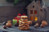 Fir tree from ginger biscuits — Stock Photo