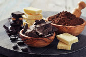 Cocoa products — Stock Photo