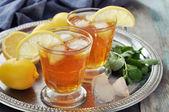 Iste med citron — Stockfoto