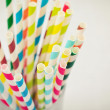 Striped drink straws — Stock Photo #39285007