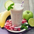 Banana smoothie with berries — Stock Photo #39285023