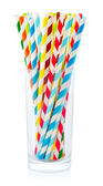 Striped drink straws — Stock Photo