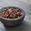 Pepper mix in stone bowl — Stock Photo #39348709