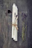 Ručně vyráběné svíčky — Stock fotografie