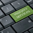 Stock Photo: Concept of online insurance.