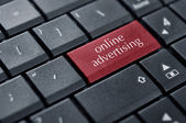 Concept of online advertising — Stock Photo