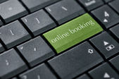 Concept of online booking — Stock Photo