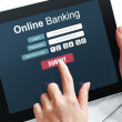Stock Photo: Online banking concept