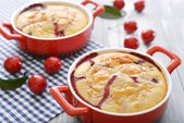 Clafoutis with cherries — Stock Photo