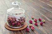 Fleurs roses de thé — Photo